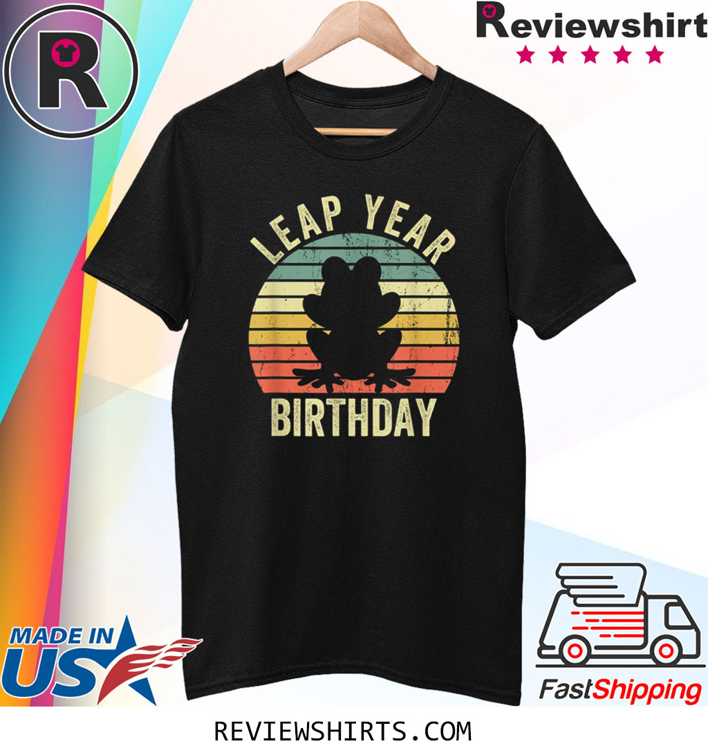 Leap Year Birthday Vintage February 29 Leap Day Frog T