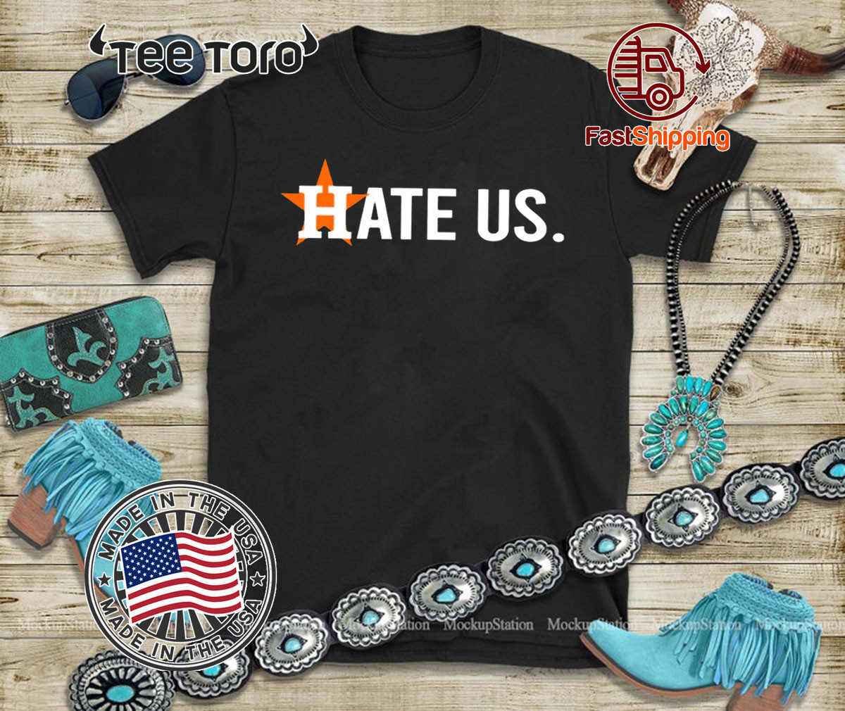 Official Houston Astros Hate Us Hot T-Shirt