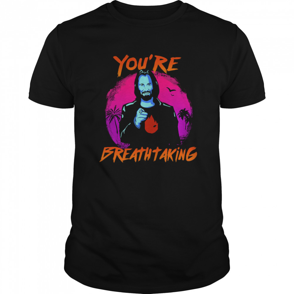 Keanu Reeves You're Breathtaking Classic Men's T-shirt