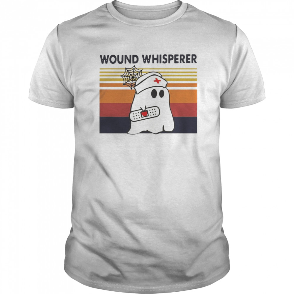 Nurse Ghost Wound Whisperer Vintage Retro Classic Men's T-shirt