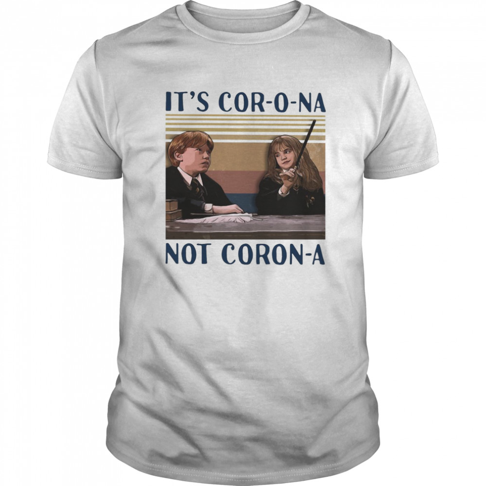 Ron Weasley And Hermione Granger It's Corona Not Corona Vintage Classic Men's T-shirt