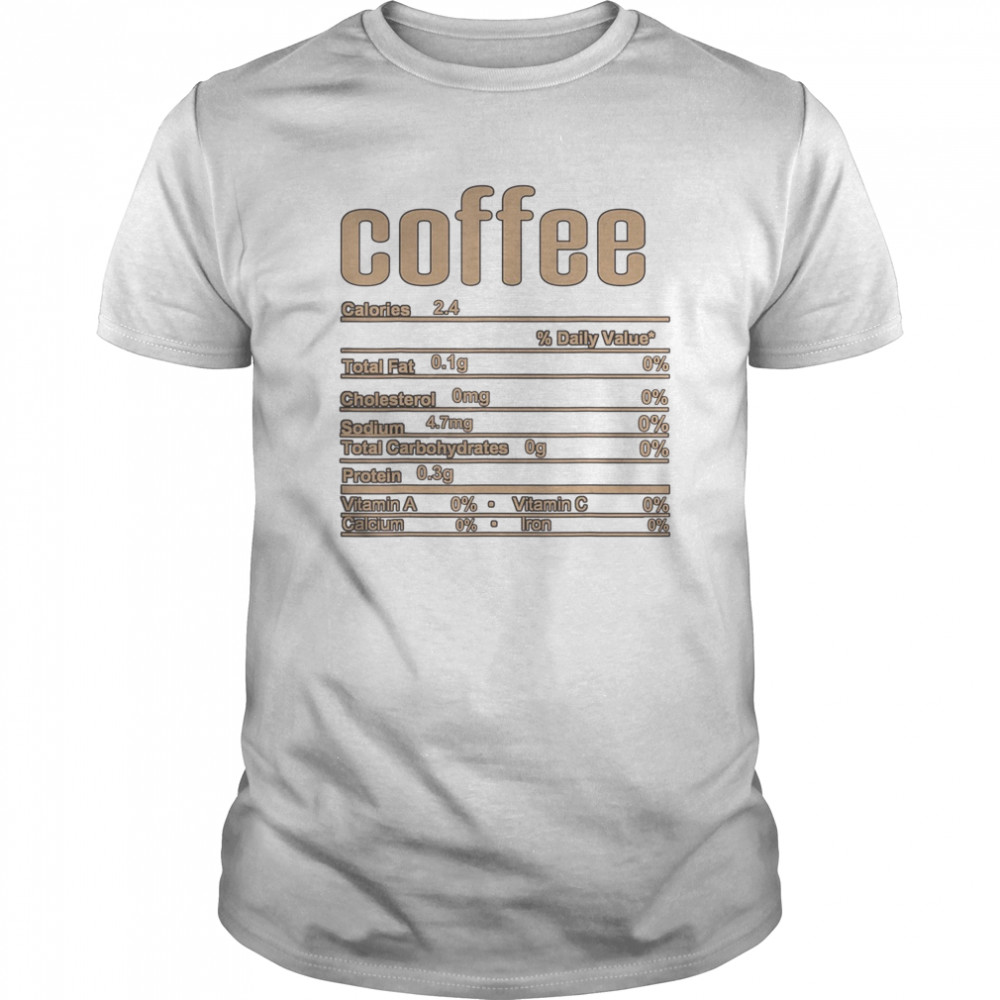 Thanksgiving Christmas Coffee Nutrition Fact Classic Men's T-shirt