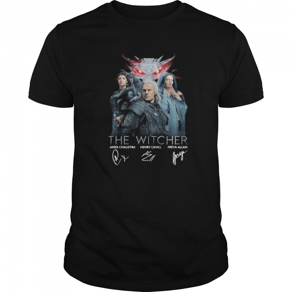 The Witcher Anya Chalotra Henry Cavill Freya Allan Signature Classic Men's T-shirt