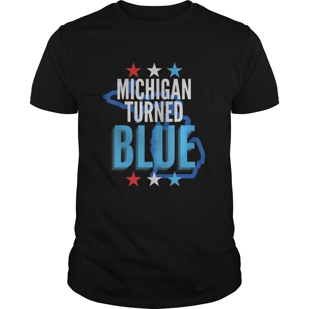 Michigan turned blue democrats won the election for biden stars  Unisex