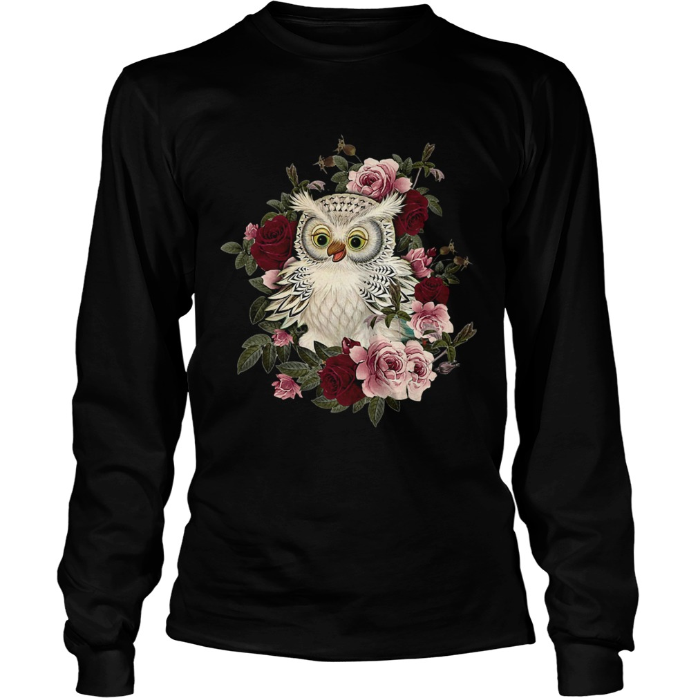 owl and rose  Long Sleeve